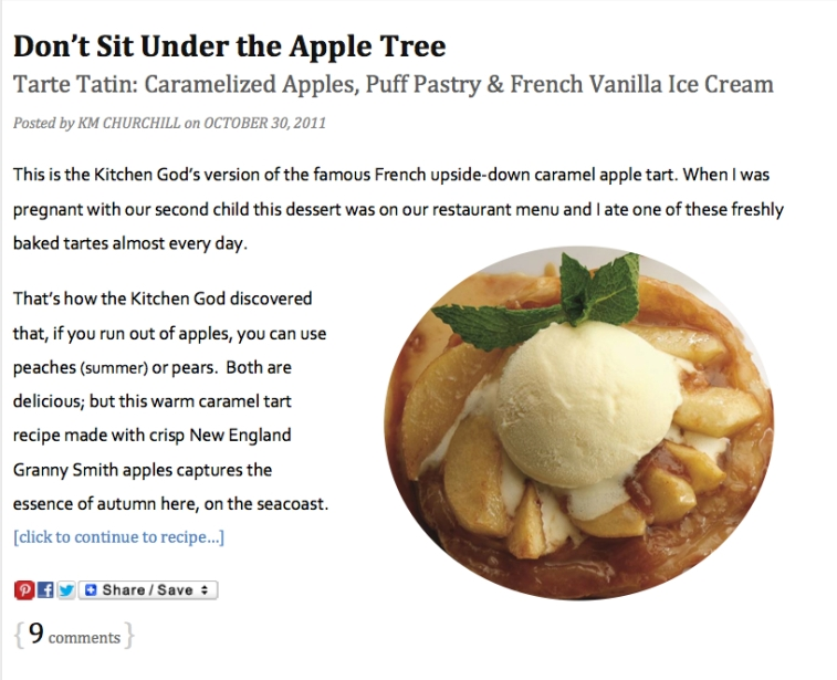 Dont Sit Under the Apple Tree - Food Writing